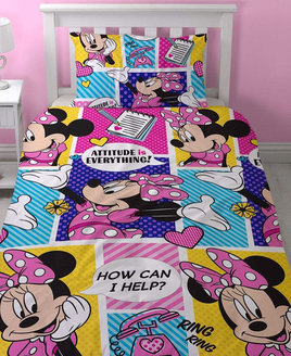 Minnie Mouse  Toddler Bedding - Attitude No Packaging
