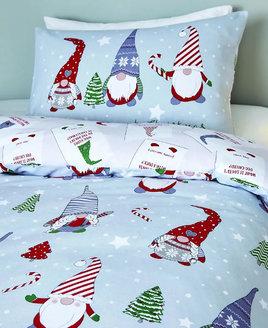 gnomes christmas bedding