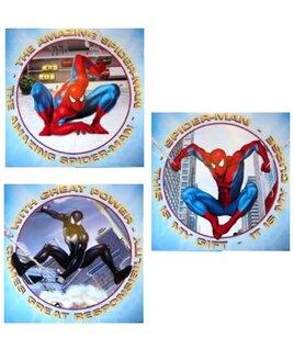 3, Peel and Stick Spiderman Art Squares.
