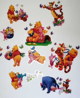 Winnie The Pooh, 17 Peel and Stick Wall Stickers