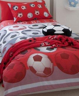 Catherine Lansfield Football Single Duvet Sets - Red