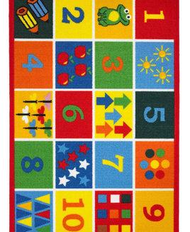 123, Kids Numbers Rug 80  x 120 cm