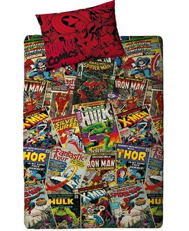 Marvel Comics Bedding designed to resemble the inconic comic magazines.