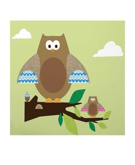Large Owls Wall Sticker