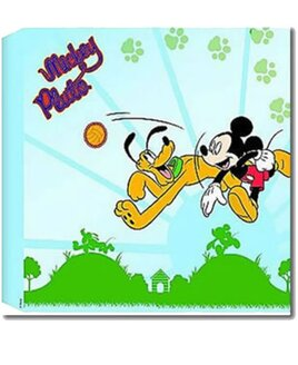 30 x 30 cm Mickey Mouse and Pluto Wall Canvas On a Sunny Day Background