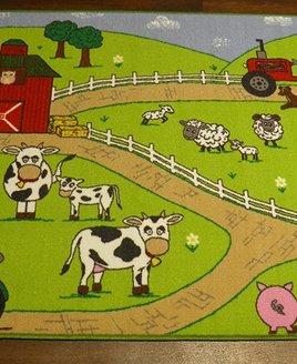 Farm, Childrens Play Mat  100 x 150 cm
