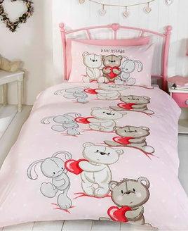 Teddy Bear Love Double Duvet