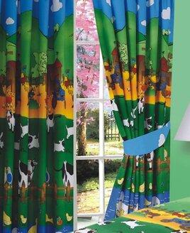 Farm Animal, 100% Cotton Curtains, 72s