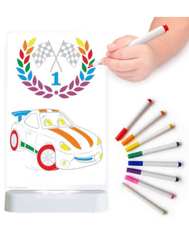 Racing Car, Colour Me In Night Light - Includes Pens