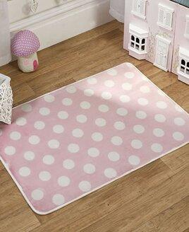 Pink Polka Dot  Rug 100 x 70 cm
