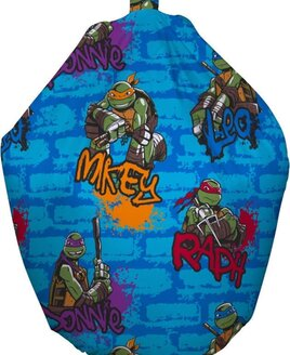 Blue, Teenage Mutant Ninja Turtles, TMNT, Filled Bean Bag featuring Mikey, Donnie, Raph and Leo