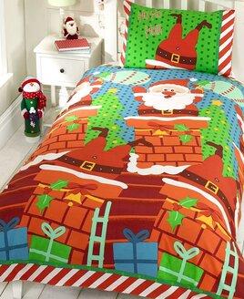 Santas Chimney Christmas Themed Double Duvet