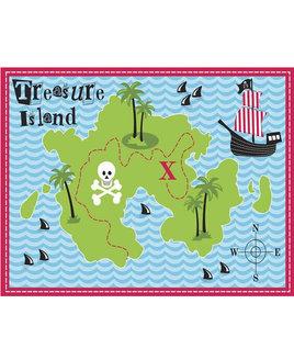Treasure Island, Pirate Themed Rug 60 x 90 cm