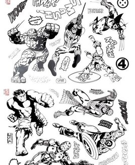 Marvel Comics, Colour Your Own Window Stickers