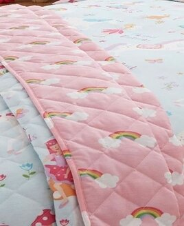 Unicorns and Rainbows Quilted Throw