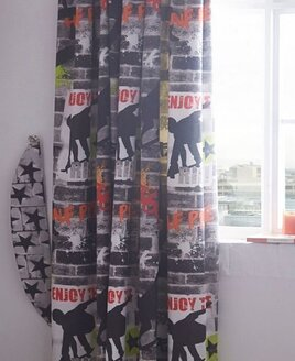 Tricks, Skateboard and Graffiti Curtains