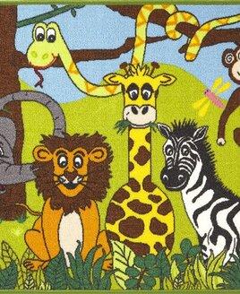 Jungle Animals, Childrens Rugs 80  x 120 cm
