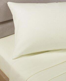 Plain Cream, Single, Polycotton Duvet Set with matching pillowcase.