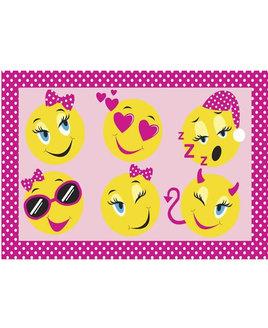 Smiley Faces Fun Rug 60 x 90 cm