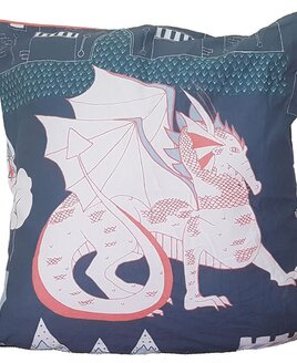 Knights, Dragons and Castle Cushion Cover - 40 x 40 cm