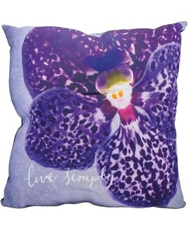 Live Simply, Floral Cushion