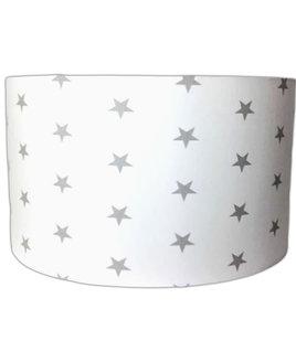 Grey Stars, Large Fabric Light Shade