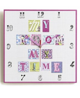 Patchwork Hearts Wall Clock