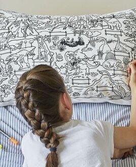 Doodle Dinosaur Pillowcase - 100% Cotton