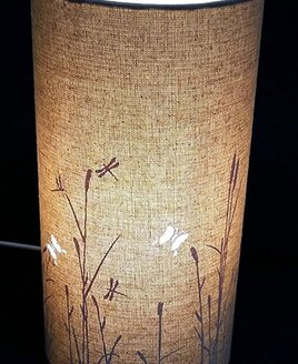 Butterflies, Fabric Table / Bedside Lamp