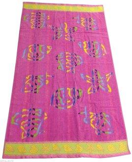 Pink Shells Beach Towel - 90 x 170 cm
