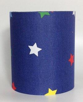 Multi Coloured Stars Medium Fabric Light Shade