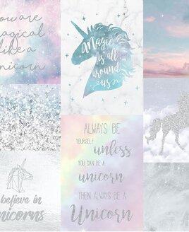 Arthouse Believe In Unicorns, Glitter Wallpaper