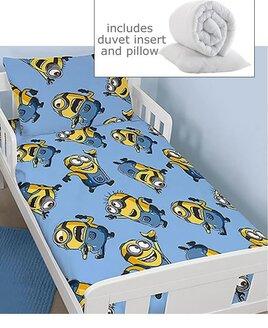 Despicable Me, Minions 4 Piece Toddler Bedding Bundle - Bello