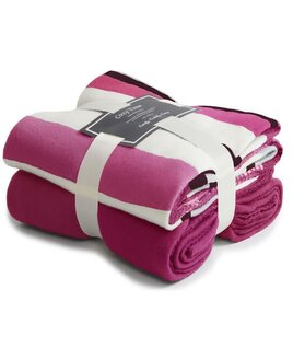Fleece Blankets Twin Pack - Fuchsia Stripe