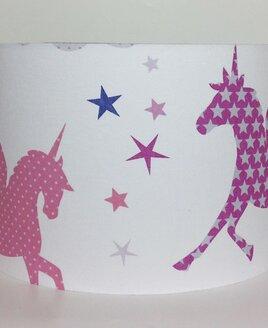 Unicorns and Stars Large Fabric Light Shade