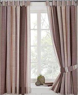 Century, Chocolate Stripe Curtains 72s