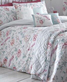 Jade, Pink Floral King Size Bedding