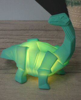 Dinosaur Lamp Green Origami Brachiosaurus