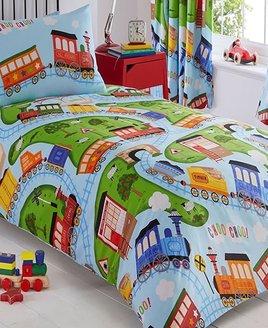 Toy Trains Single Bedding
