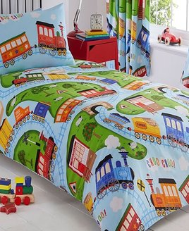 Toy Trains Double Duvet