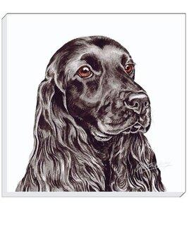 Black Cocker Spaniel Canvas Art 40 cm square