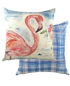 Watercolour Flamingo Cushion