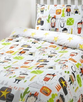 Cowboys and Indians Toddler Bedding Sets