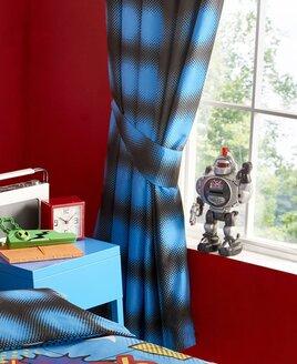 Kapow  Blue Spots Curtains 72s